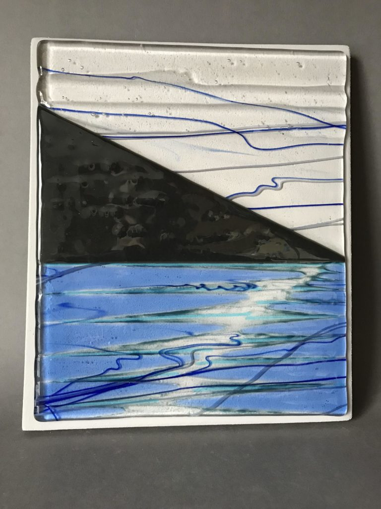 Fused-glass seascape