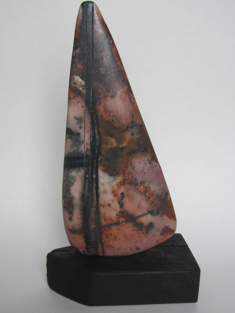 Smoke-fired ceramic form
