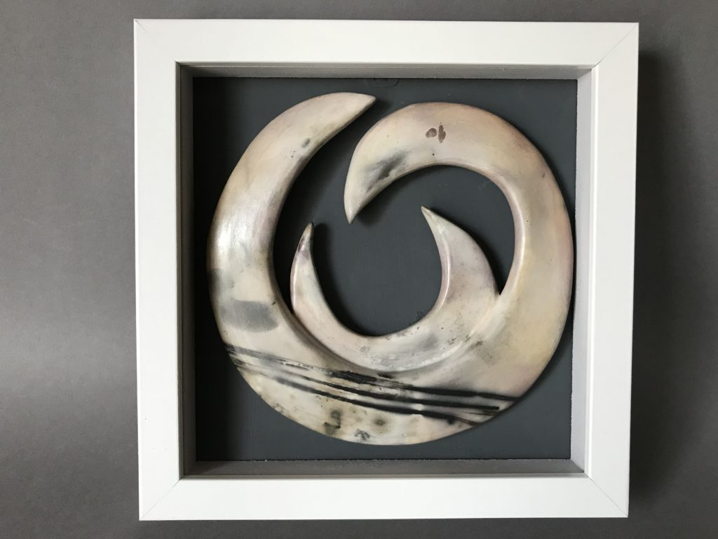 Framed smoke-fired form